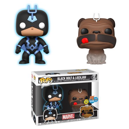 SDCC 2018 POP MARVEL TELEPORTING LOCKJAW & BLACK BOLT