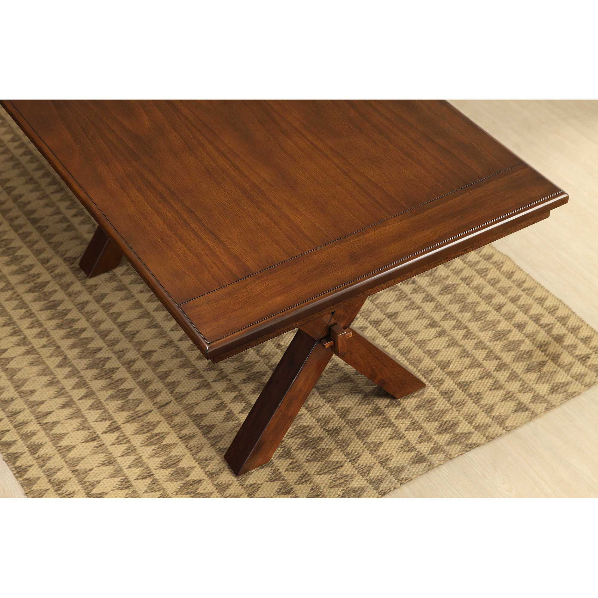 Better Homes And Gardens Maddox Crossing Dining Table, Brown   Walmart.com