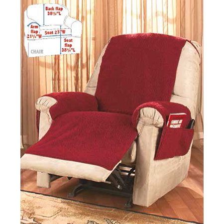Fleece Recliner Covers Burgundy