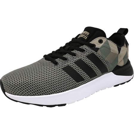 Adidas Men's Cloudfoam Super Racer Trace Green / Black Khaki Ankle-High Running Shoe -