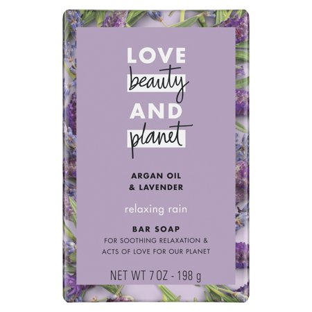 Love Beauty And Planet Relaxing Rain Bar Soap Argan Oil & Lavender 7 oz
