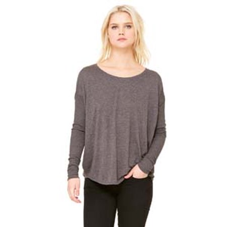 Bella + Canvas Ladies' Flowy Long-Sleeve T-Shirt with 2x1 Sleeves