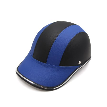 Baseball Cap Style Motorcycle Safety Hard Hat Open Face Half Helmet Blue  Black - Walmart.com 86c55ced9c4