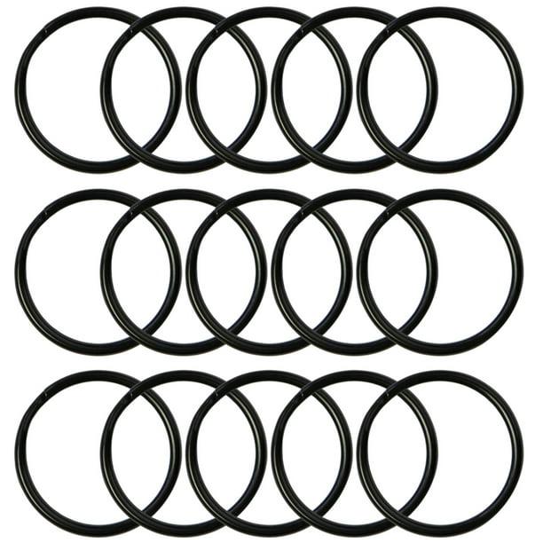 Lead Free Electroplated Black 100pcs Round Edged 1 Inch Diameter Key Rings Key Chain Metal Split Ring Bulk Lanyards Arts /& Crafts for Home Car Keys Organization