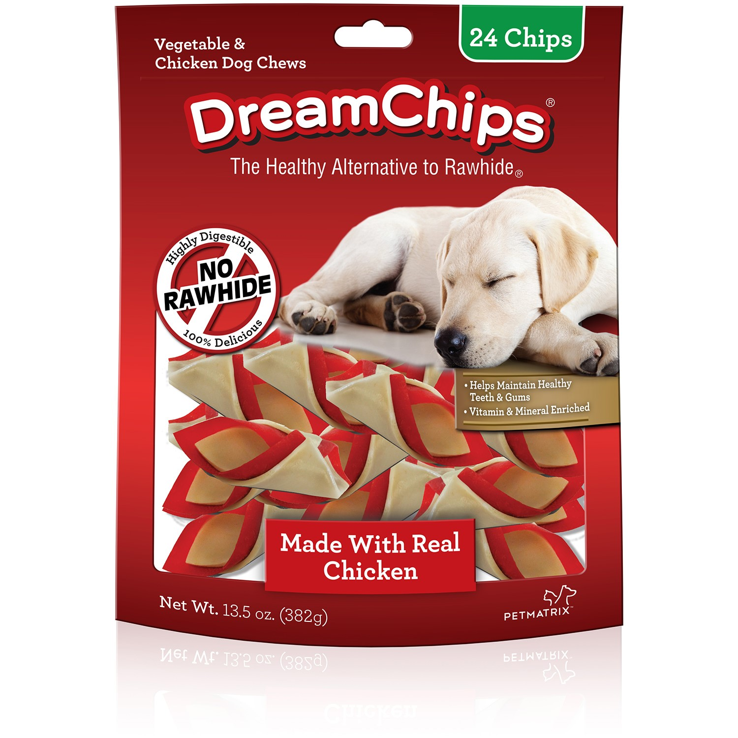 DreamBone DreamChips Chews for Dogs, Rawhide Free, 24ct