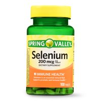 Spring Valley Selenium Tablets, 200 mcg, 100 Count