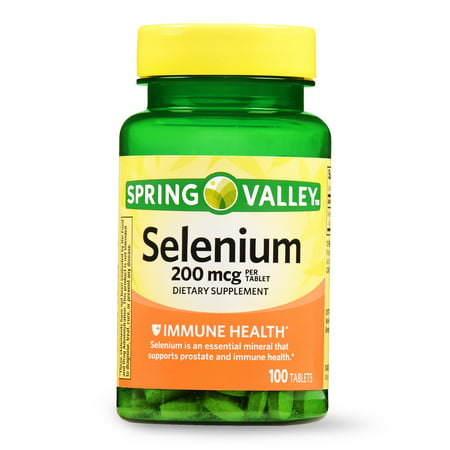 (2 Pack) Spring Valley Selenium Tablets, 200 mcg, 100 Ct