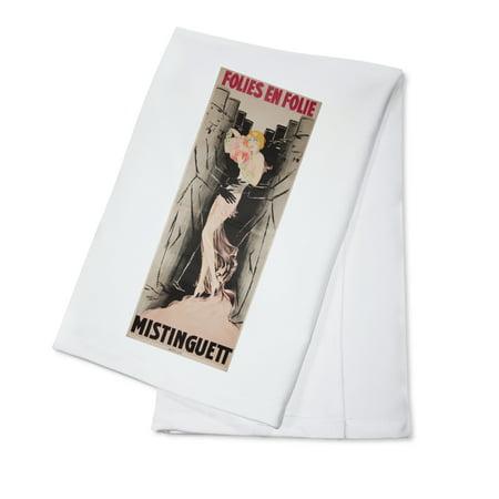 Folies   Bergere   Folies En Folie   Mistinguett Vintage Poster  Artist  Selten  France C  1933  100  Cotton Kitchen Towel