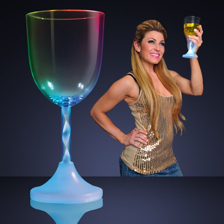 Wine Stem - FlashingBlinkyLights LED Light Up Flashing Wine Glasses with Spiral Stem