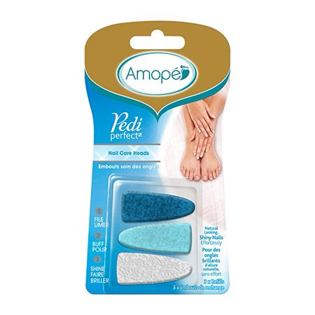 Amope Pedi Perfect Electronic Nail Care System Refill Heads, 3ct