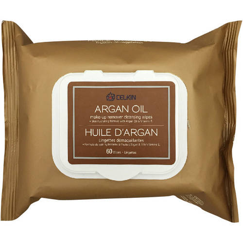 Celkin Argan Oil Make-Up Remover Cleansing Wipes, 60 sheets
