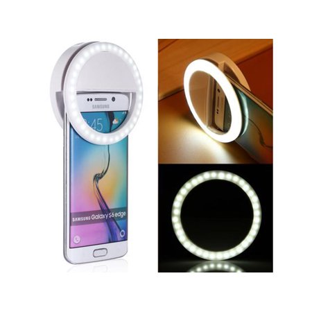 Portable Size Selfie Portable LED Ring Fill Light Camera Photography for iPhone Android Phone Cell (Best Portable Led Light For Photography)