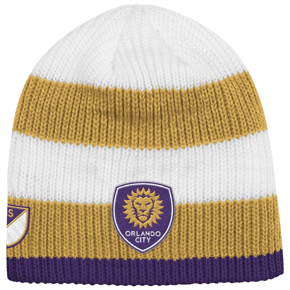Orlando City SC Adidas MLS Authentic Draft Cuffless Knit Hat by Adidas