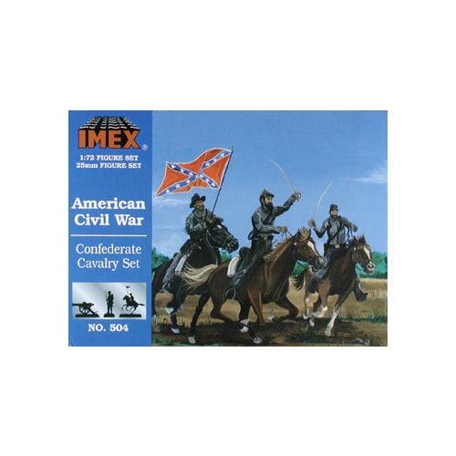 504 1/72 Confederate Cavalry Multi-Colored