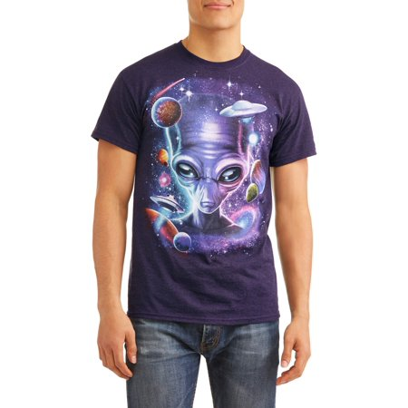 1920s Male Fashion (Men's Alien In Space Fashion Short Sleeve Graphic T-Shirt, up to Size)