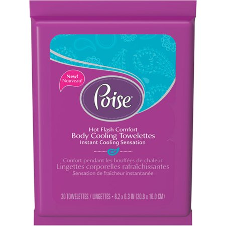 Poise Body Cooling Towelettes 20 Count Walmart Com
