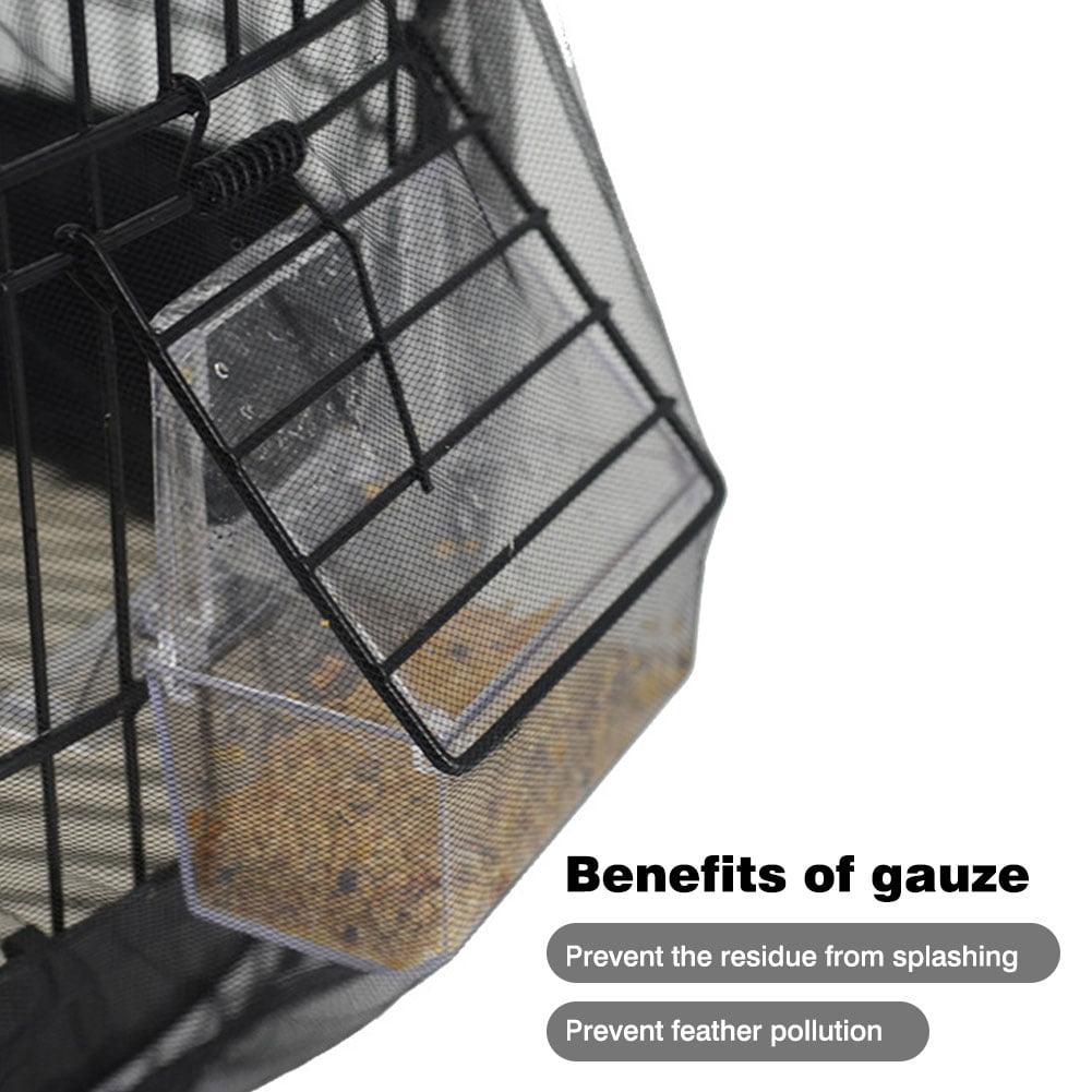 Bird Cage Seed,Dustproof Seed Catcher Nylon Mesh Birdseed Net Guard for Length 30-45cm