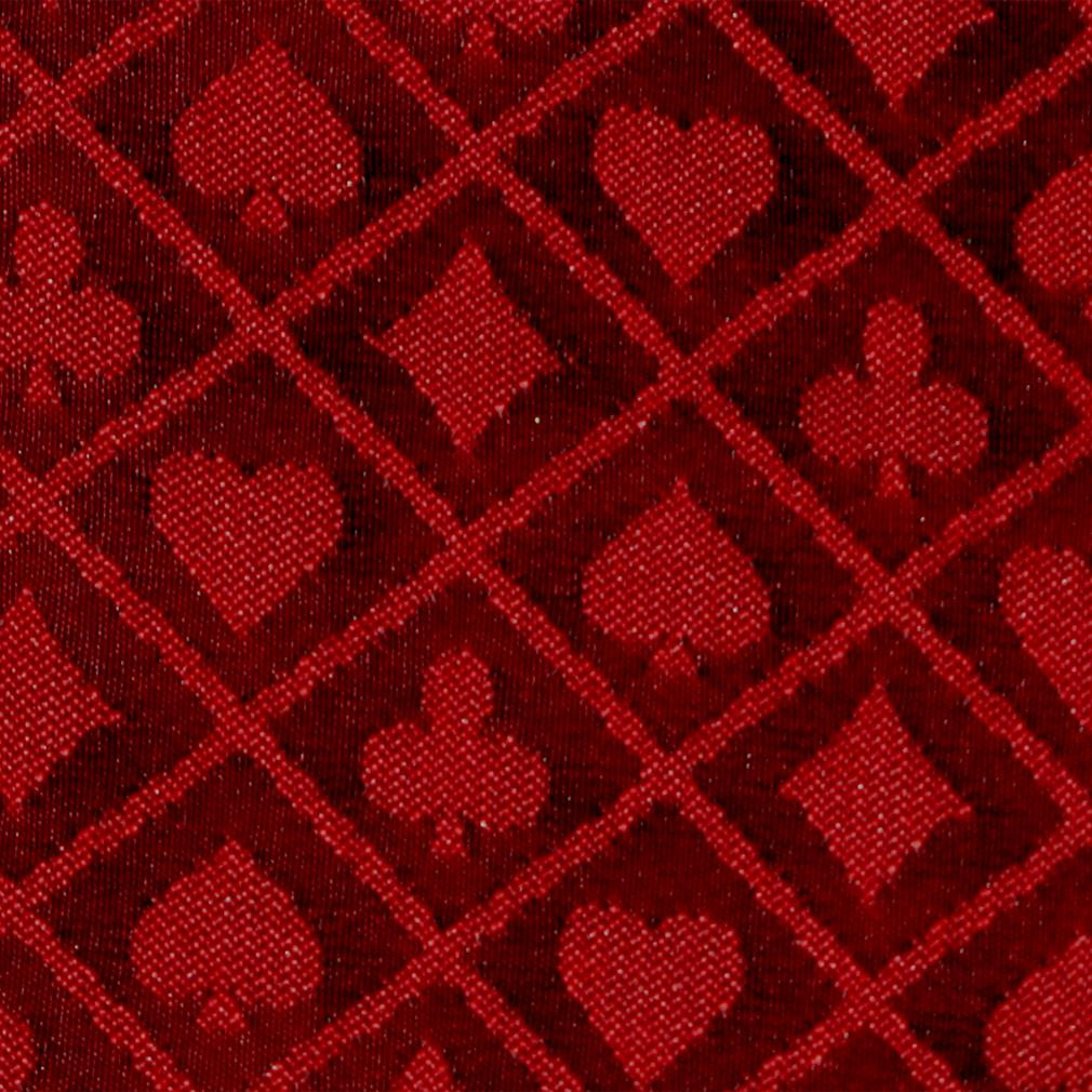 """50 Meter Roll of Red Two-Tone Poker Table Speed Cloth"" by BryBelly"
