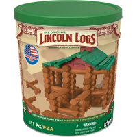 LINCOLN LOGS 100th Anniversary Tin - 111 Pieces - Collectible Tin
