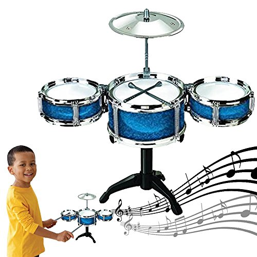 Dazzling Toys Blue Desktop Drum Set Musical Instrument Toy Playset Rock on Drums by dazzling toys