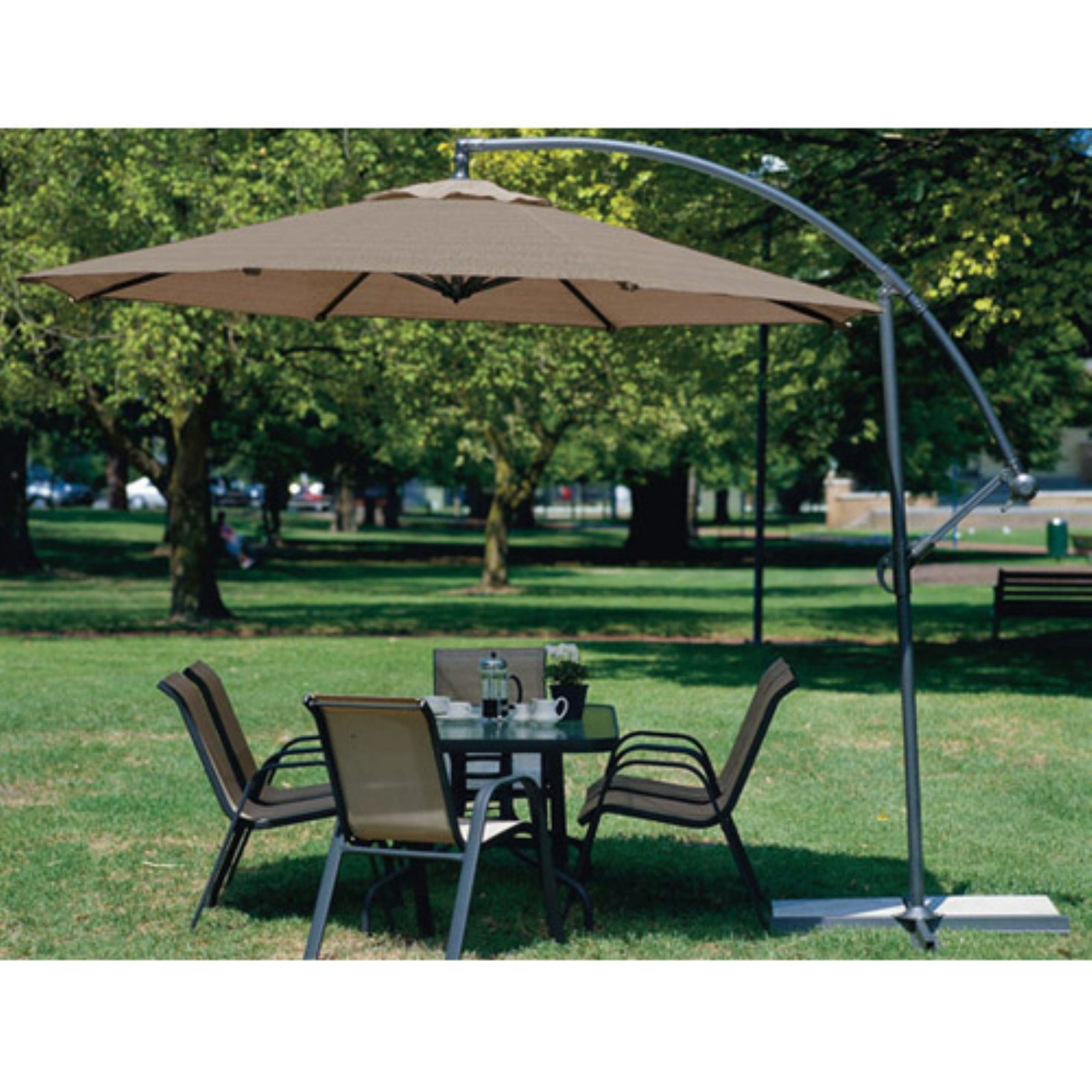 Charmant Coolaroo 10 Ft. Offset Patio Umbrella   Mocha