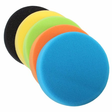 6 Inch 150mm Soft Flat Sponge Buffer Polishing Pad Kit For Car
