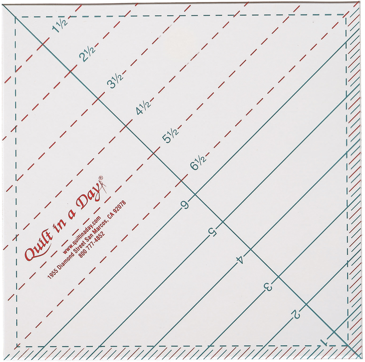 "Quilt In A Day Triangle Square Up Ruler-6-1/2""X6-1/2"""