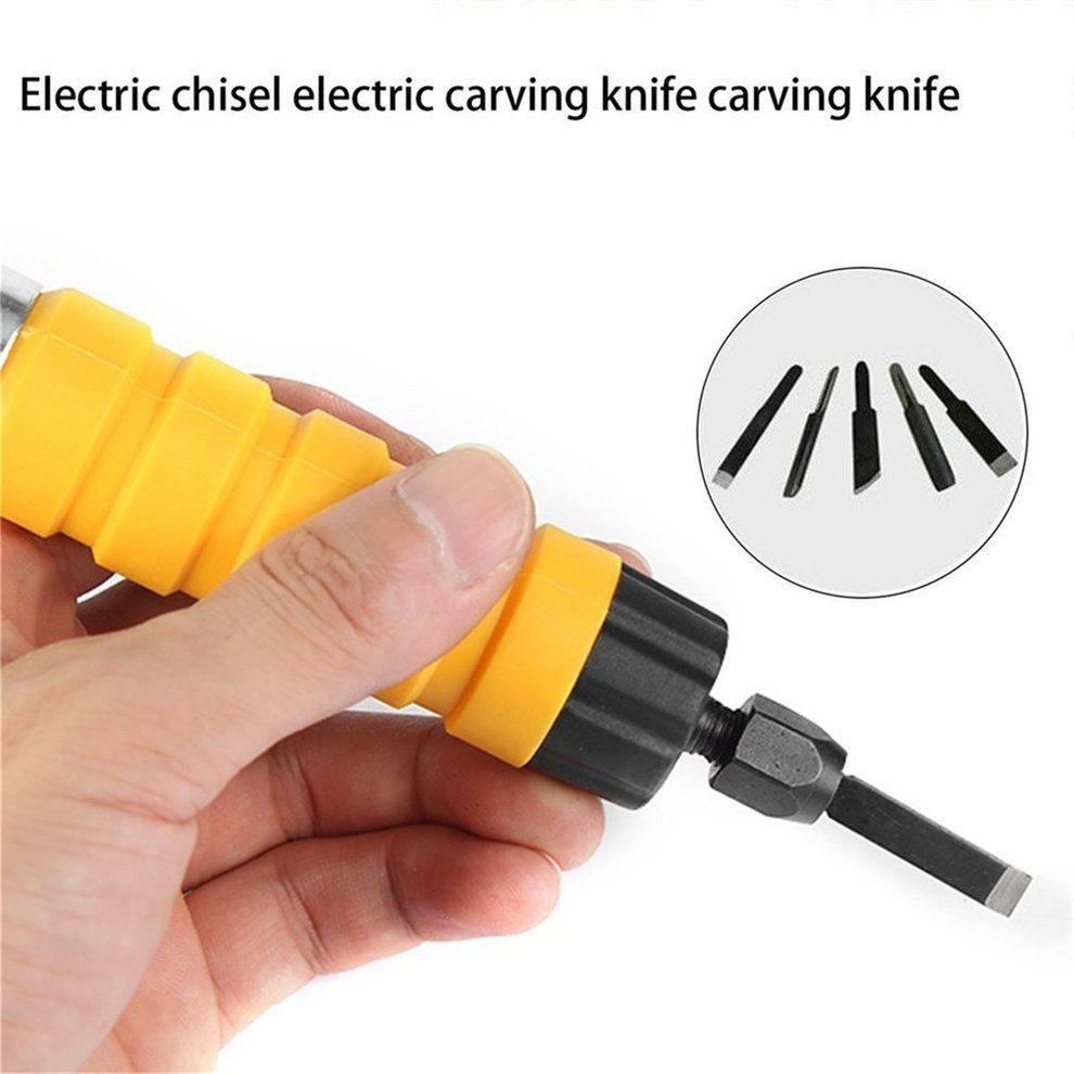 Electric Chisel Carving Tool Wood Carving Machine Woodworking Small Spanner