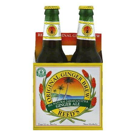 Reeds Original Brew Ginger Ale, 4 ea (Pack of 6)