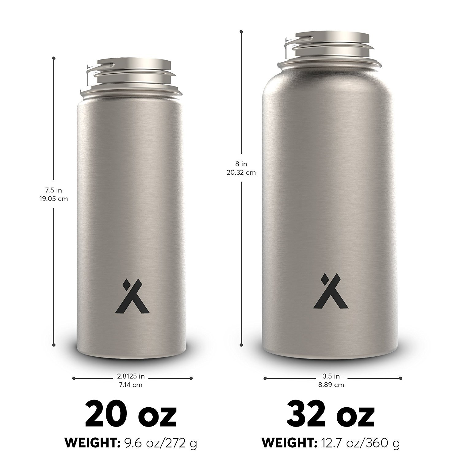 84ffeb48a8 Bear Grylls Triple Wall Vacuum Insulated Water Bottle for 12 Hours Hot | 24  Hours Cold, BPA Free - Walmart.com