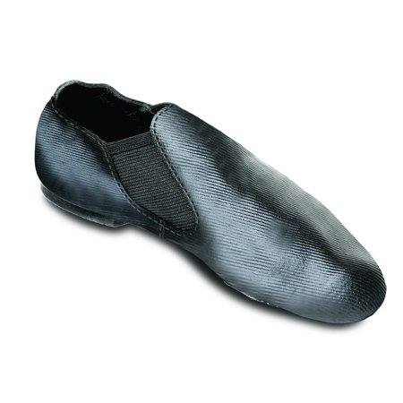 Sansha Children Black Modernette Canvas Slip-on Split Sole Jazz Shoes 5T-6 Youth (D Roses Shoes Youth)