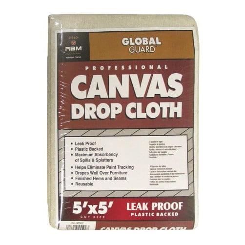 5' X 5' Leak Proof Canvas Drop Cloth