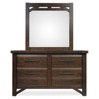 Steve Silver Co. Timber 6 Drawer Dresser with Optional Mirror