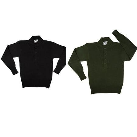 5-Button Acrylic Sweaters - Acrylic Sweaters