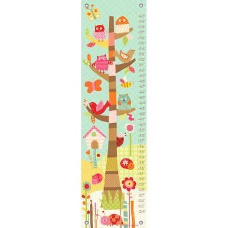 Oopsy Daisy Pretty Tree Growth Chart 12x42 Lesley Grainger