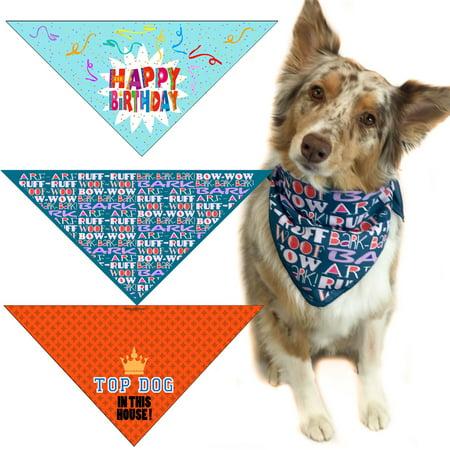 Set of 3 Dog Bandanas -