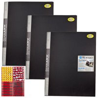 ITOYA 18 inch x 24 inch Original Art Profolio Presentation Book/Portfolio- for Art, Photography, and Documents - Pack of 3