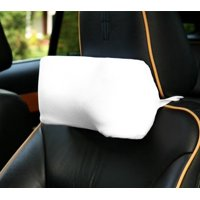Deluxe Comfort Memory Foam Car Neck Pillow  100% Microsuede  Travel Pillow  Retains Heat to Alleviate Tension Muscles  Travel Pillow