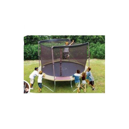 SKYBOUND 12' Enclosure Trampoline Net Using 2 Arches