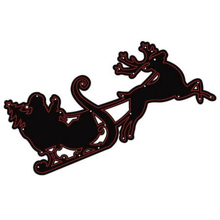 Die Cut Emboss Stencil Santa Sleigh Reindeer By