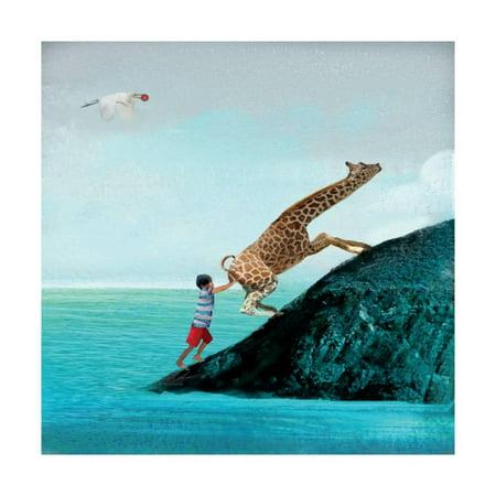 Life Can Be Tricky Nursery Kids Magical Ocean Animal Giraffe Art Print Wall Art By Nancy Tillman