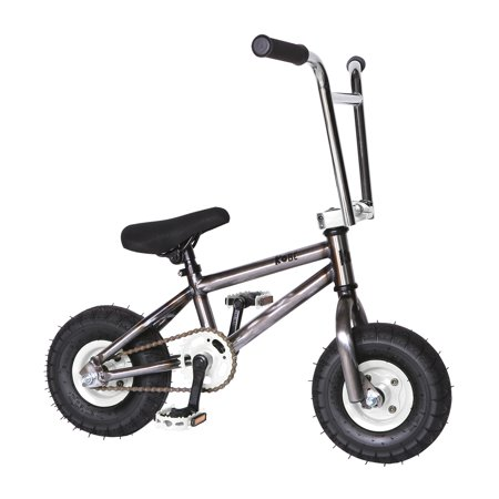 """Kobe """"Rusty Rat Rod"""" Mini BMX - Off-Road to Skate Park, Freestyle, Trick, Stunt Bicycle 10"""" Wheels for Adults and Kids - White - image 9 de 12"""