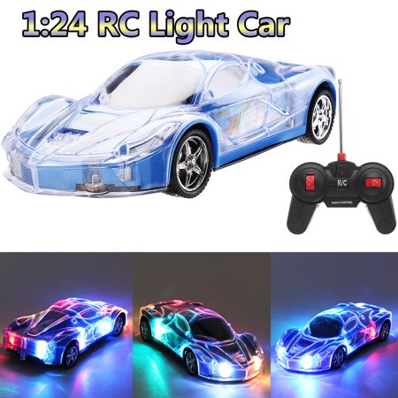 1/24 2403A Remote Control Toys RC Racing Car Roadster Sports Light Up Car Play Vehicles with 3D Light For Kids, Boys & (Dirt Race Cars For Sale In Florida)