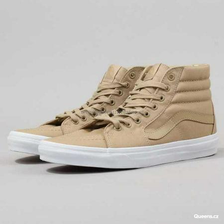 8a6734716e Vans SK8 Hi Mono Canvas Khaki/True White Men's Skate Shoes Size 8