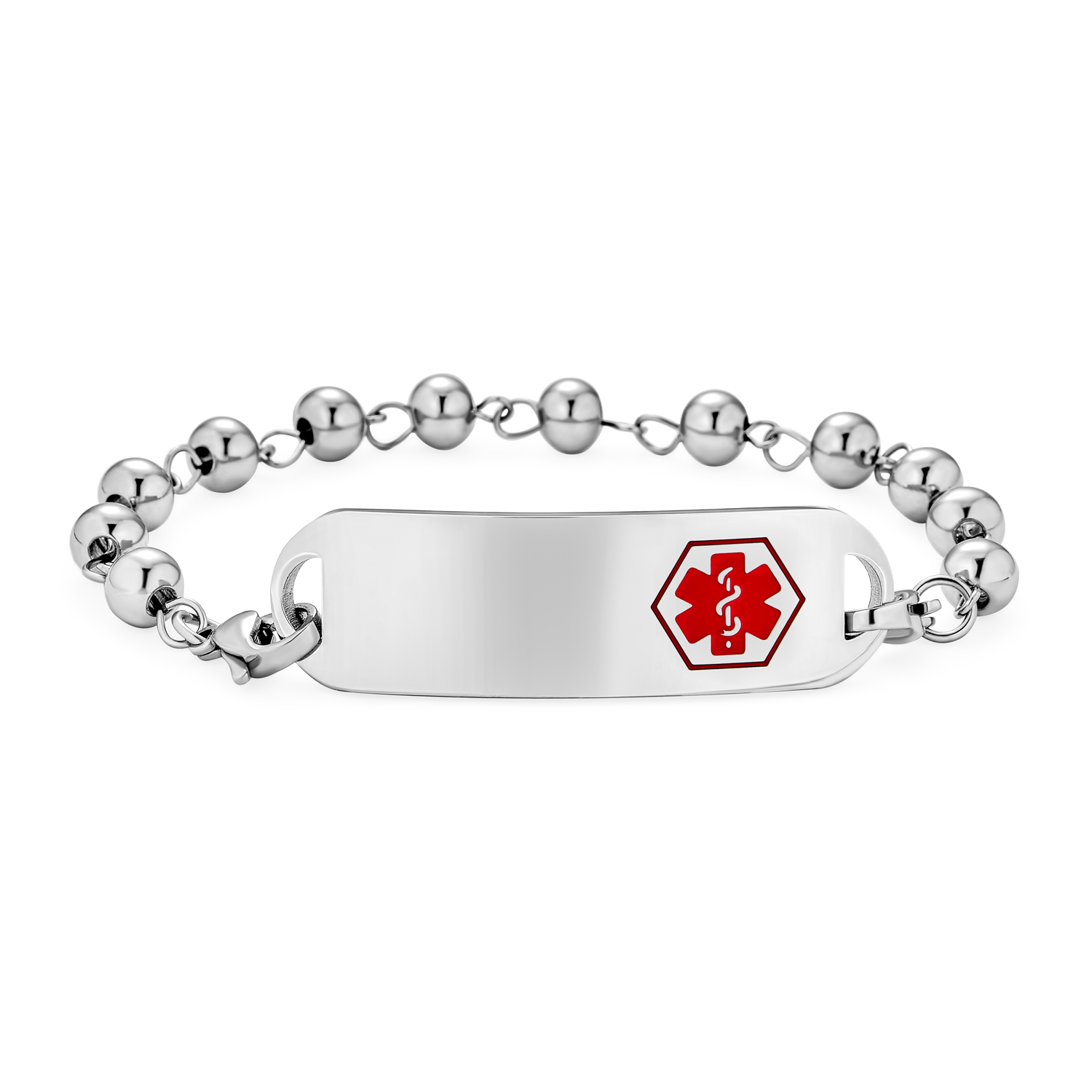 8 Includes FREE Engraving Stainless Steel Customizable Asthma Medical Alert Bracelet