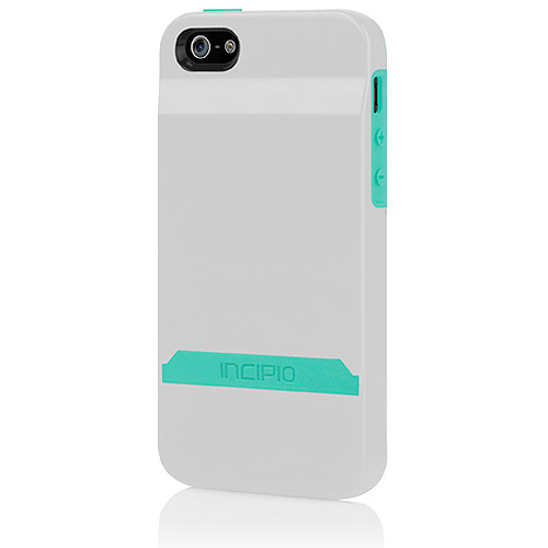 STASHBACK FOR IPHONE 5/5S WHITE/TURQUOISE