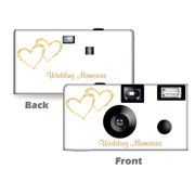 5 Pack Gold Hearts Wedding Memories Disposable Camera,  Wedding Camera, Anniversary Camera, from CustomCameraCollection WM-50349-C