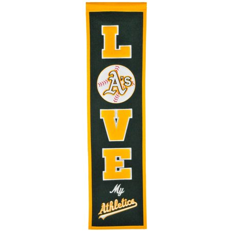 Oakland Athletics 8'' x 32'' Love Banner
