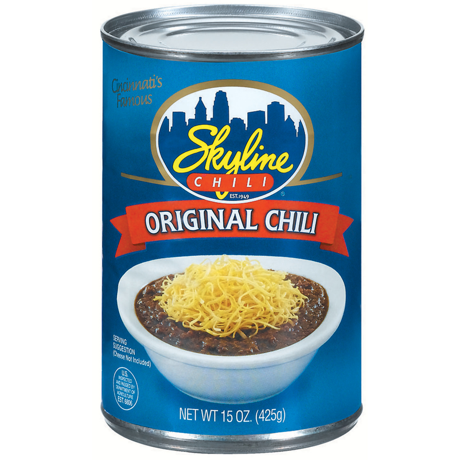 (6 Pack) Skyline Chili Original  Chili 15 Oz Can