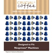 100 High Performance Replacement Coffee Capsules for Use in Most Nespresso Machines, The Closer is Designed & Engineered by Crucial Coffee
